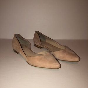 Marc Fisher Pink Suede Ballet Flats Size 5.5